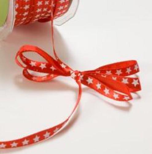 Sterne rot Schleifenband