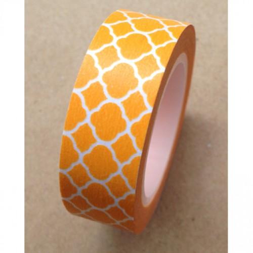 Masking Tape TILES FLOWER orange