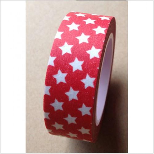 Masking Tape kleine Sterne rot