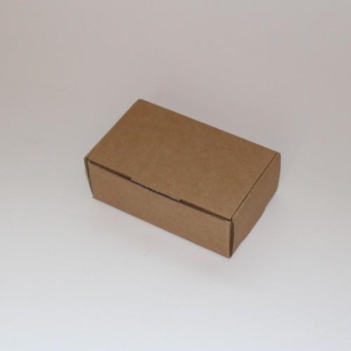 4 kleine Faltschachteln rechteckig Kraft Wellpappe 9x5x3cm