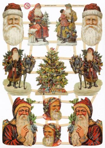 Glanzbilder Weihnachten Nikolaus glitzernd