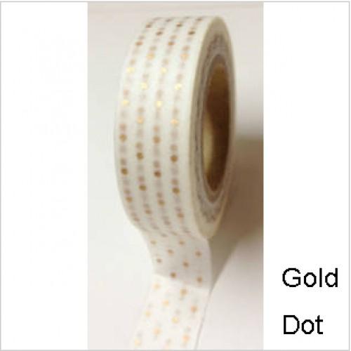Masking Tape mini dots Pünktchen matt gold