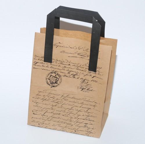 Papiertüte Kraftpapier vintage Schrift / Stempel