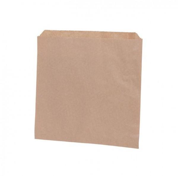 10 flache Papiertüten glattes Kraftpapier 17x17cm