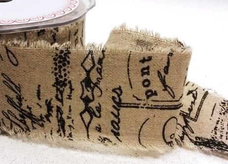 Leinenband bedruckt Scroll 5cm breit Meterware
