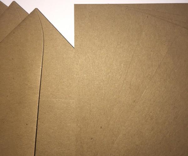 5 Klappkarten quadr. 15x15cm Kraftpapier