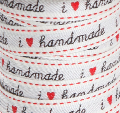 "Webband ""I love handmade"" 15mm"