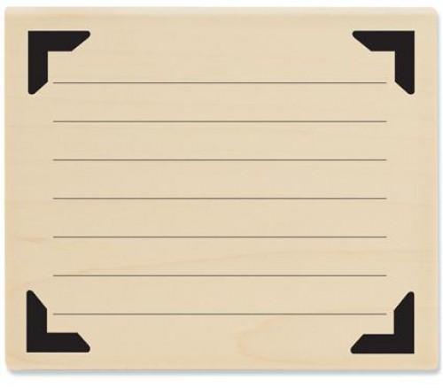 Stempel Lineatur mit Zierecken