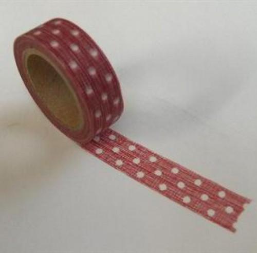 Washi Masking Tape rot weiss Punkte