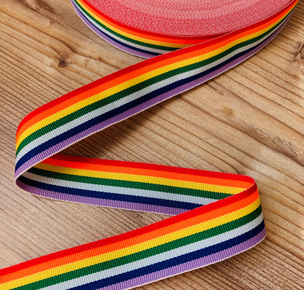 Dekoband Regenbogen Rainbow 25mm
