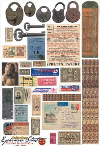 Ephemera Sheet #1 matt Bogen Scraps