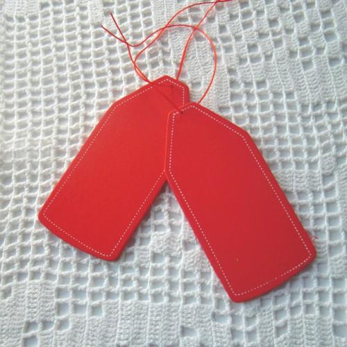 Geschenkanhänger Paketanhänger Holz rot