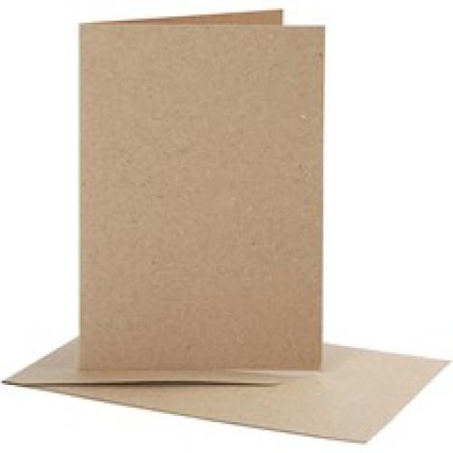 10 Stk. Karten 10x15cm inkl. Umschläge seitl. Klappe