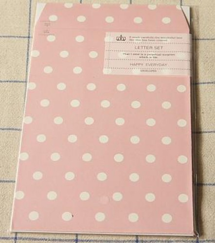Briefpapier Polka Dots rosa gepunktet