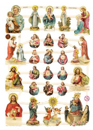Glanzbilder Maria Jesus Jesuskind Heiligenbilder glitzernd
