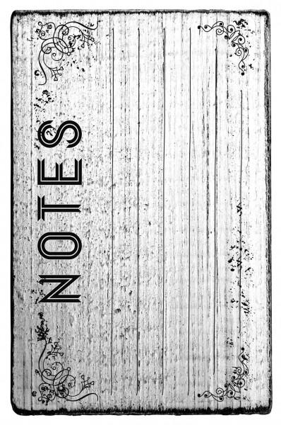 Stempel NOTES vintage Look 7 x 4 cm