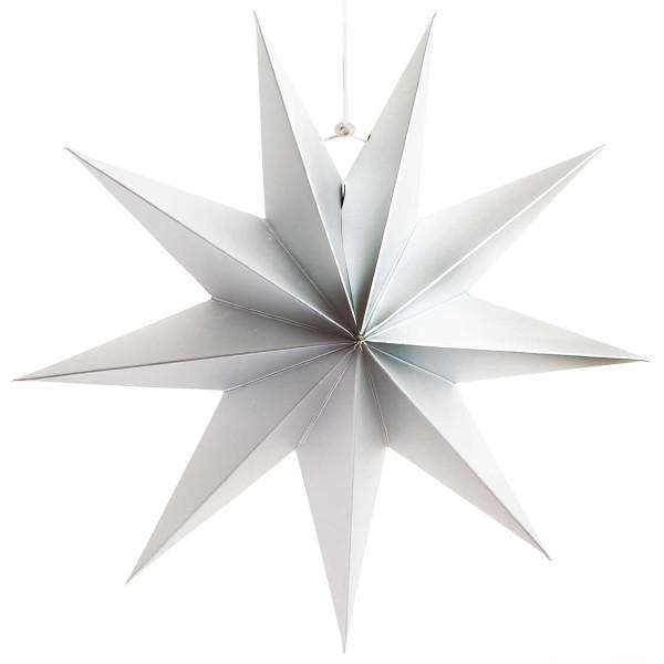 Papierstern Étoile silber matt 28cm