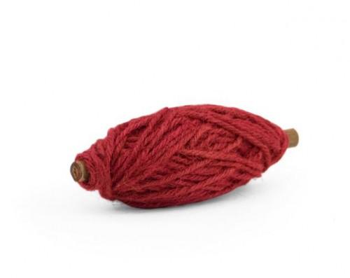 Flax Kordel 25 Meter rot Spule