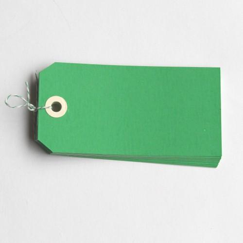 Paketanhänger grün 10 Stk groß