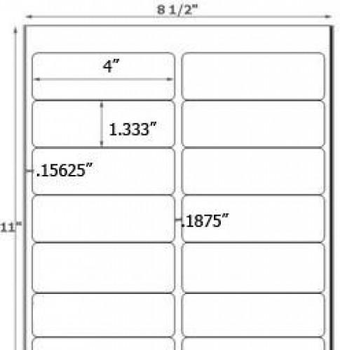 Bogen Kraftpapier braun Label 14Stk rechteckig