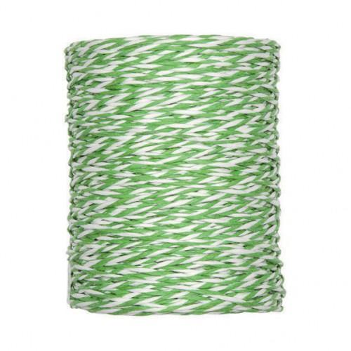 Papierkordel Garn Rolle grün weiss 100 Meter