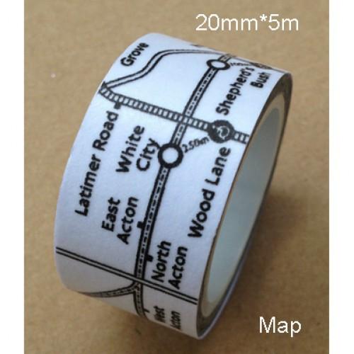 Masking Tape Underground Map