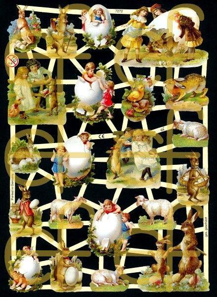 Glanzbilder Ostern mit Glitzer