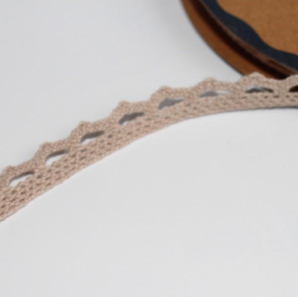 Spitzenband taupe-hellbraun 10mm