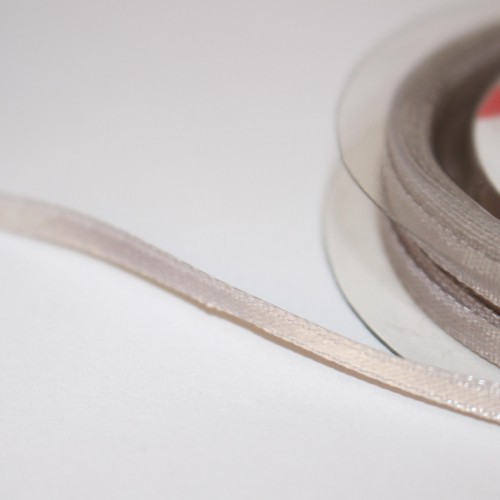 Satinband 3mm hellgrau Rolle 10m