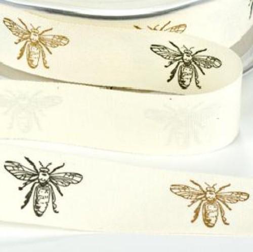 Schleifenband Bees Bienen vintage