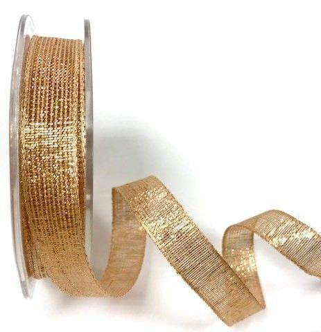 Glitzerband rosé gold 15mm Drahtkante