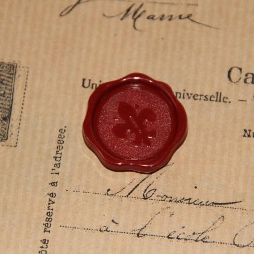 4 Stk. rote Lacksiegel Lilie selbstklebend