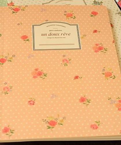 Schreibheft Rosen rosa liniert