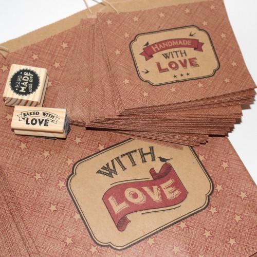 40 Kraftpapiertüten WITH LOVE