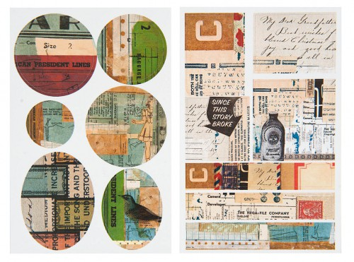 13 Sticker vintage Collage