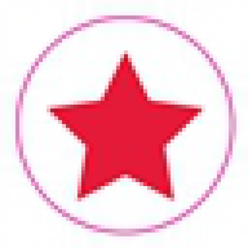10 Stern Sticker Etiketten rot weiss gross
