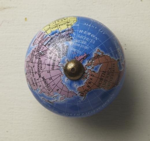 vintage Knauf Globus blau groß