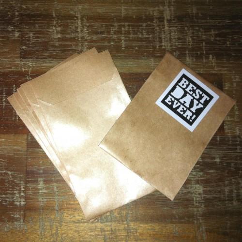 10 kleine Papiertüten aus glattem Kraftpapier 9x6,5cm