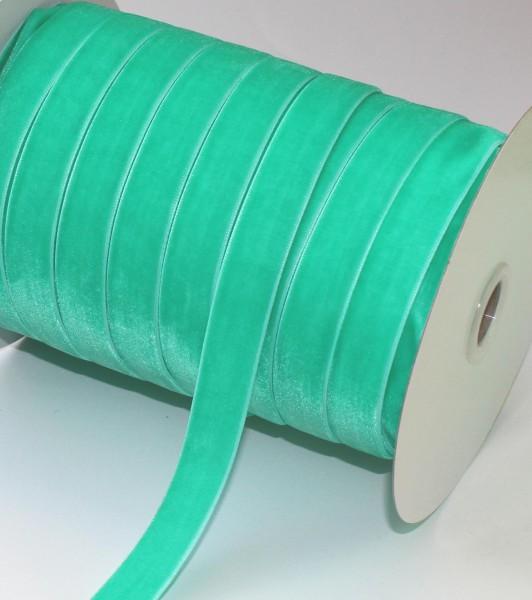 meeresgrünes Samtband 15mm