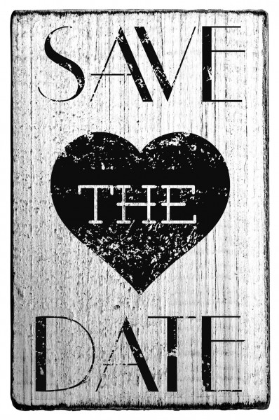 Stempel SAVE THE DATE vintage Look 7 x 4 cm