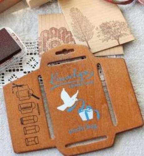 Schablone Briefumschlag aus Holz