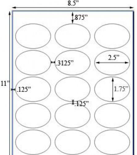Bogen Kraftpapier braun Label 15 Stk oval