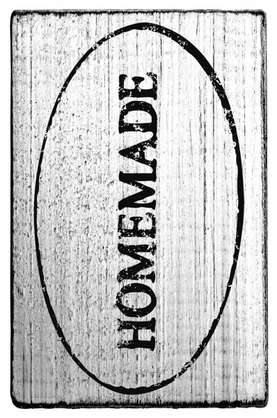 Stempel HOMEMADE vintage Look 7 x 4 cm