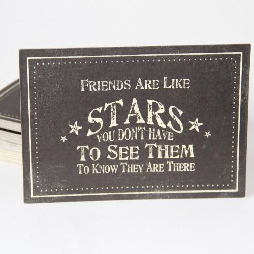 Postkarte 'Friends are like stars...'