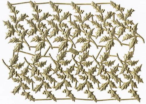 goldene Ornamente Bogen Ilex Stechpalme 12 Stk