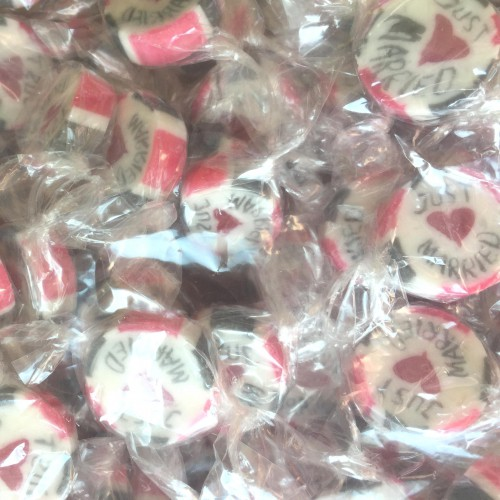 "Bonbons ""Just Married"" rosarot 100gr"