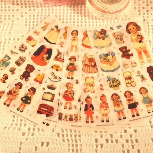 Stickerset Doll Anzieh-Puppe 6 Bögen