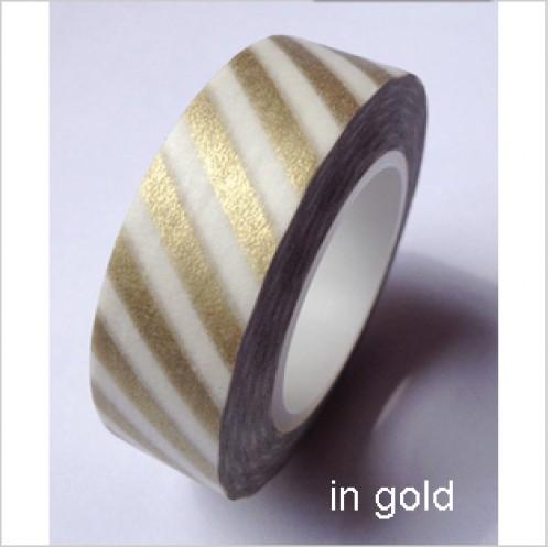 Masking Tape Streifen diagonal matt gold