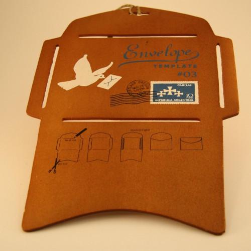 nostalgische Schablone Kuvert antik