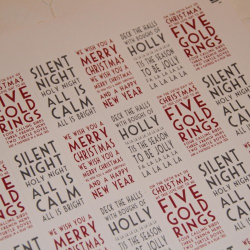 Stickerbogen Christmas Words 30 Stk creme